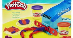 Fun Factory tool squeezes out colorful Play-Doh shapes  Load Play-Doh compound and press the lever  Attachable rails create a variety of shapes  Includes Fun Factory tool 2 rails and 2 cans of Play-Doh Brand Modeling Compound  Jumpstart the creativity with the classic Play-Doh Fun Factory tool! This set lets kids explore their imaginations and have fun squishing and squeezing Play-Doh colors. To play simply load the Fun Factory set with a favorite Play-Doh color choose a shape on 1 of the 2…