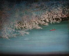 UK Artist Thomas Lamb - Blossom over the River