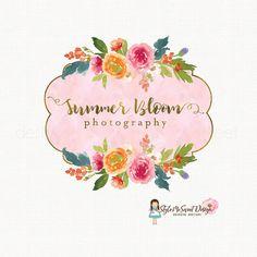 Peony Logo Design Flower Event By Stylemesweetdesign Carte De Visite Fleur