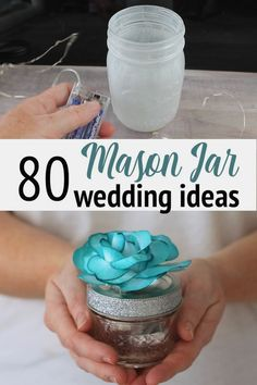 Want mason jars at your wedding? We have over 80 ideas to inspire your rustic wedding and make it something special! #wedding #diywedding #masonjars #jars