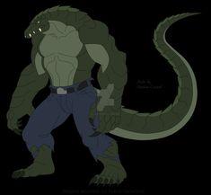Killer Croc, Chibi, Monster Art, Pokemon, Furry Art, Mythical Creatures, Godzilla, Reptiles, Badass