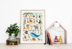 Das Tieralphabet Passend zu den einzelnen Tieralphabet-Karten gibt es nun auch ein Poster zusammen mit allen Buchstaben. Auf spielerische Weise lernen die Kinder die Buchstaben des Alphabets....