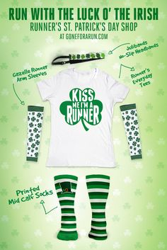 Are you running this St. Patrick's day? Check out all our gear! GoneForaRun.com!