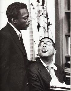 Miles Davis and Dizzy Gillespie, Paris, 1958.