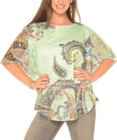 Love this Mint Paisley Dolman Top - Plus by Shoreline on #zulily! #zulilyfinds