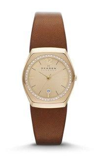 Asta Women's Crystal Leather Watch