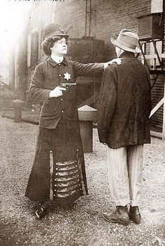 Police Woman 1909---Taking care of business.