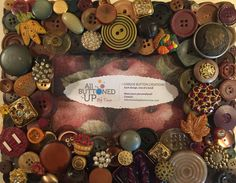 HARVEST Button Frame in Browns ~ Fall Frame ~ Rustic Home Decor ~ Bohemian Decor ~ Photo Frame ~ Gift for Her ~ Boho Art ~ for 4x6 photo
