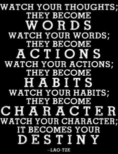 #inspirationalquotes Poster Print - Watch Your Thoughts Quote on Etsy, $18.00 http://www.positivewordsthatstartwith.com/