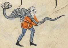 """Detail from """"The Rutland Psalter"""", medieval (c1260), British Library Add MS 62925. f 76v"""
