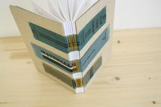 book sewn using the spines of other old books