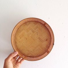 Vintage 1970s Japanese Bamboo Woven Basket by PennyfeatherVintage