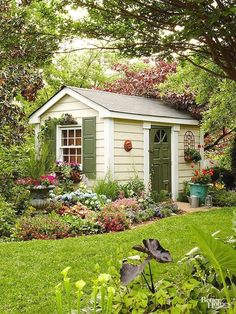 Are you looking garden shed plans? I have here few tips and suggestions on how to create the perfect garden shed plans for you. Backyard Studio, Backyard Sheds, Outdoor Sheds, Outdoor Rooms, Outdoor Gardens, Outdoor Living, Backyard Storage, Backyard Gazebo, Ideas Cabaña