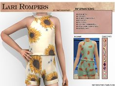 sims 4 cc // custom content kids clothing // Lari Rompers - NEW MESH - Simtographies Mods Sims 4, Sims 4 Game Mods, Sims 4 Toddler Clothes, Sims 4 Cc Kids Clothing, Toddler Cc Sims 4, Children Clothing, The Sims 4 Bebes, Sims 4 Family, The Sims 4 Packs