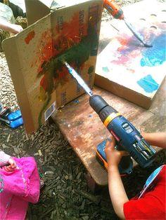 Teacher Tom: Power Tool Painting!