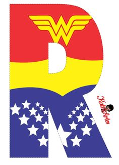 Free Alphabet of Wonder Woman. Wonder Woman Birthday, Wonder Woman Party, Super Girls, Anniversaire Wonder Woman, Alphabet, Superhero Birthday Party, Hero Girl, Ladies Party, Letters And Numbers