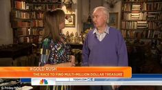 One step closer: Forrest Fenn, right, presented a new hint in the hunt for his elusive booty on the TODAY show that states: 'No need to dig up the old outhouses, the treasure is not associated with any structure' Buried Treasure, Treasure Hunting, Forrest Fenn Treasure, Rare Gold Coins, Metal Detecting, Fighter Pilot, Two Daughters, Gold Rush, Today Show