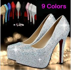 92 Best Crystal Wedding Party Shoes images  438c6b353a54