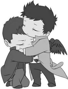 More Destiel chibis. Oh my lord. I want this.