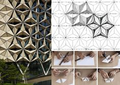 04 - Bio – inspired dynamic systems like the facade designed by AHR Architecture , whose geometry responds to the movement of the sun, folding and unfolding the single shading elements.