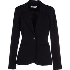 Only Blazer ($94) ❤ liked on Polyvore featuring outerwear, jackets, blazers, coats, black, multi pocket jacket, long sleeve blazer, long sleeve jacket, black jacket and black collared jacket