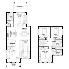 Oslo 21.5 - Double Level - Floorplan by Kurmond Homes - New Home Builders Sydney NSW
