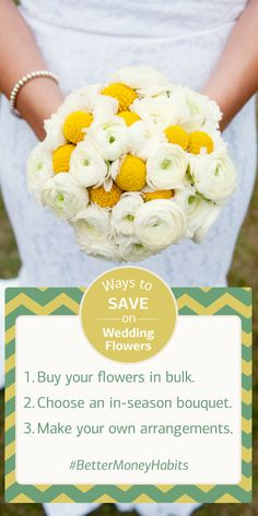 Between flowers, dresses, food and the venue, your wedding expenses can add up quickly. Learn how to budget for the big day and save up for the future. #BetterMoneyHabits