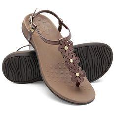 The Lady's Plantar Fasciitis T-Strap Sandals - Hammacher Schlemmer