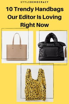 Looking for a great new bag for the holidays? Check out these 10 trendy handbags that our editor is loving at the moment! Trendy Handbags, New Bag, Louis Vuitton Damier, Shopping, Fashion Handbags