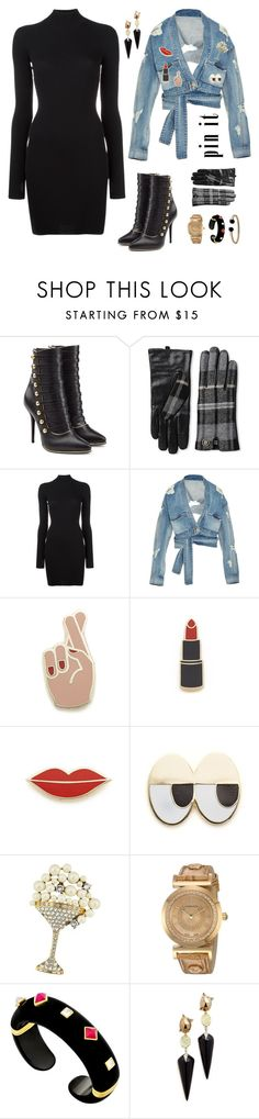 """Untitled #411"" by maylamartha on Polyvore featuring Balmain, Tommy Hilfiger, adidas Originals, Jonathan Simkhai, Georgia Perry, Marc Jacobs, Versace, Alexis Bittar and David Yurman"