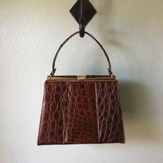 ANDREW GELLER BAG VINTAGE Amazing Bag! Faux reptile. Great condition!!! 8 1/2x7x 2 1/2. No Trades Andrew geller Bags