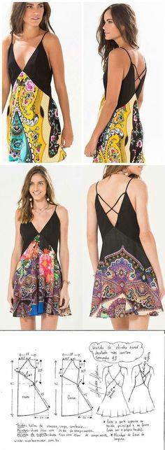Выкройка летнего платья Модная одежда и дизайн интерьера своими руками