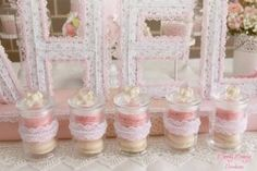 Shabby Chic themed birthday party with Such Cute Ideas via Kara's Party Ideas! full of decorating ideas, cakes, cupcakes, recipes, games, printables, favors, and MORE! KarasPartyIdeas.com #shabbychic #littlegirlparty #shabbychicparty #partystyling #partydecor #partyplanning #eventstyling #partydesign (13)