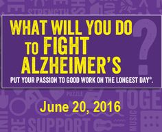 From sunrise to sunset on the summer solstice, teams will do things they love to honor those living with Alzheimer's disease and raise funds to fight Alzheimer's. #EndAlz