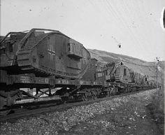 German echelon with captured British tanks.