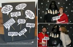 Star Wars Photo Booth with quotes from the movie!