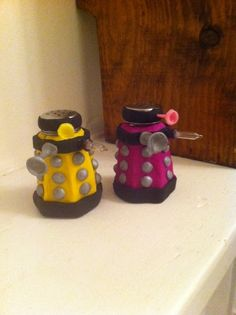 Dalek Salt and Pepper shakers - POTTERY, CERAMICS, POLYMER CLAY