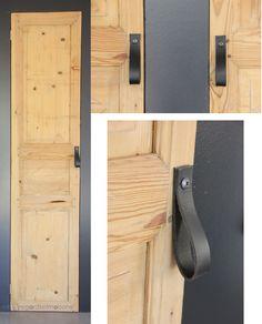 regardsetmaisons: Mes nouvelles poignées de porte en cuir - DIY-