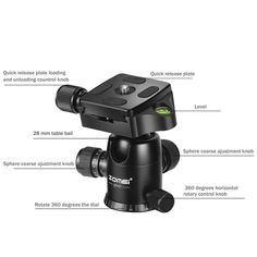 Navitech Lightweight Aluminium Tripod Compatible with The Canon EOS 5DS R Camera