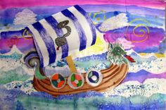 In the Artroom: 4th Grade Viking Ships