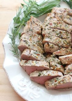 Loving this pork recipe --> garlic herb rubbed pork tenderloin #pinkpork