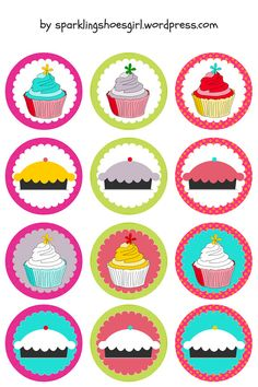 Sweety Cupcake Toppers