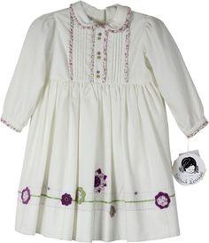 Sarah Louise Floral Trim Dress