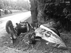 British born Richard 'Dick' Seaman was one of the most successful pre war drivers for Mercedes and was leading the 1939 Belgian Grand Prix at Spa when he crashed into a tree and his vehicle caught fire. He died of his injuries, aged 25.
