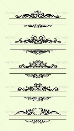 Various Ornamental Borders Created: 1August14 GraphicsFilesIncluded: JPGImage #VectorEPS #AIIllustrator Layered: No MinimumAdobeCSVersion: CS Tags: baroque #border #borders #classic #curly #decor #decoration #decorative #design #detail #elegant #floral #frame #frames #label #name #ornament #ornate #pattern #revival #rule #scroll #shape #shapes #swirl #swirls #vector #vintage #graphicriver