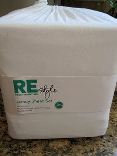 Tip:  to protect her white slipcovers, she uses white JERSEY sheets over them.  The jersey/t-shirt fabric clings and doesn't slip around.  Easier to wash than the slip covers.