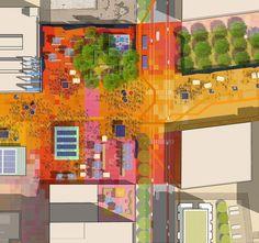 TechTown District Plan,core area - spring