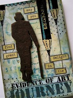 Wendy used her art journal page as a background for this tag -- very cool