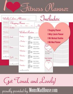 Printable Fitness Planner - Mom's Madhouse