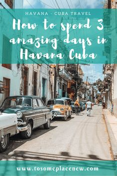 Read the perfect Havana Itinerary that includes exploring the UNESCO Heritage Site of Old Havana, revolution era museums,the Spanish quarters, Malecon and more including food and drink guide!#havana #cuba